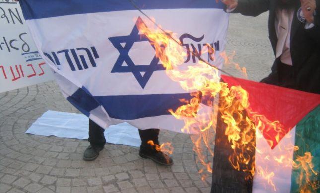 יום הנכבה: פעילי 'ישראל יהודית' שרפו דגל פלסטין