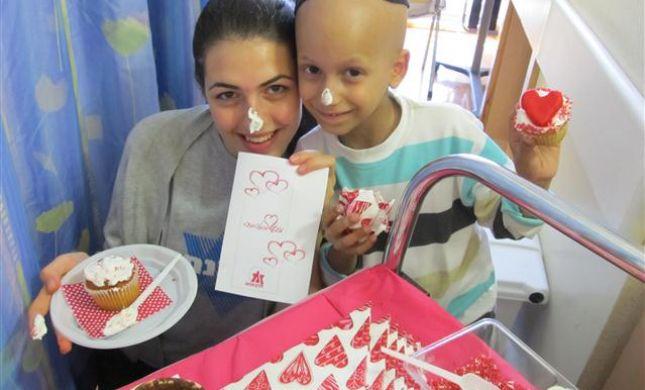 תמונה מפעילות זכרון מנחם עם ילדים חולי סרטן בטו באב