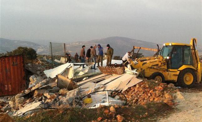 הרס במצפה יצהר: התושבים כבר התחילו לבנות מחדש
