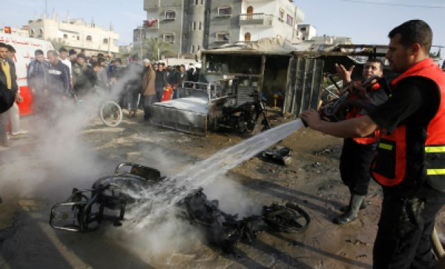 """תמונות וסרטונים: מתקיפות צה""""ל בעזה"""