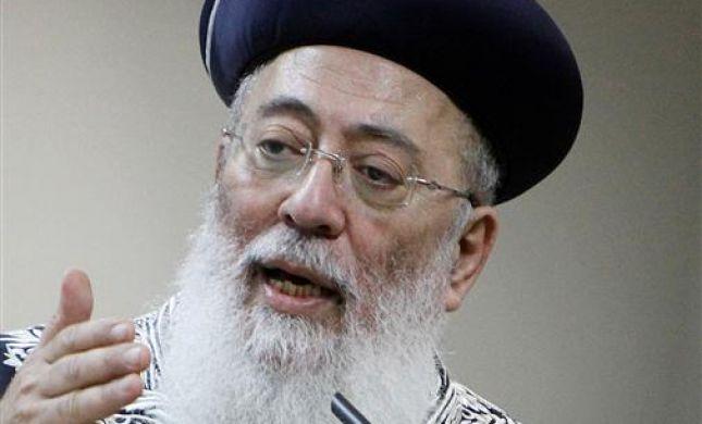 הרב עמאר: האסון בטבריה בגלל שעם ישראל רדום