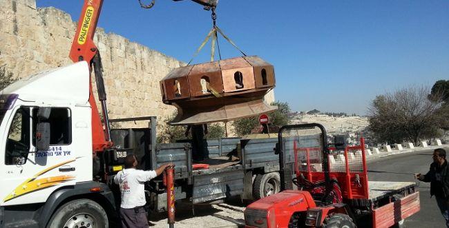 מתכוננים: הכיור לבית המקדש השלישי הגיע לירושלים