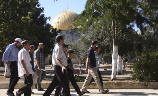 צפו: מאות עלו השבוע להר הבית והתפללו לשלום העולם; המוסלמים זועמים
