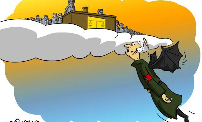 קריקטורה: מה מחכה לפושע הנאצי הזקן בעולם
