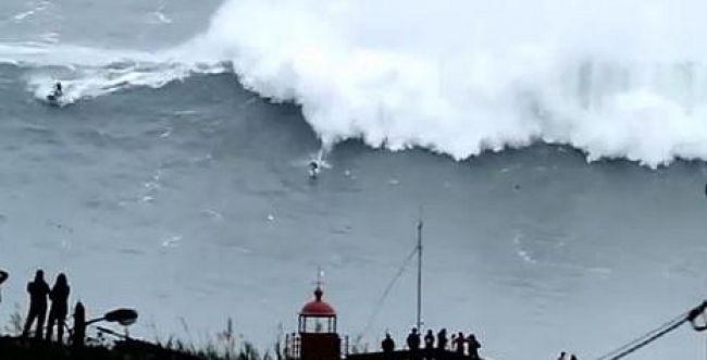 משוגע: גולש על גלים בגובה 20 מטר
