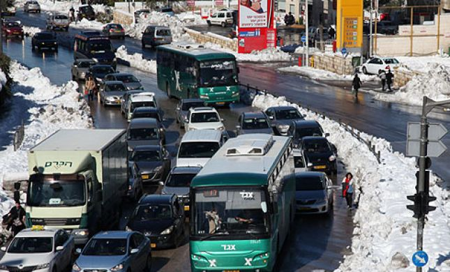 4 ימים אחרי השלג: עשרות מוסדות סגורים בירושלים