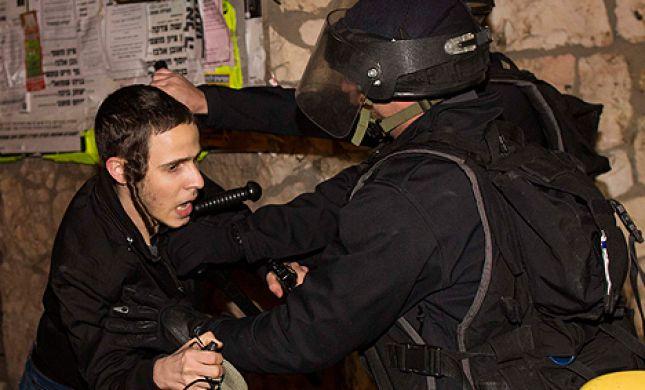 """צפו: שוטר יס""""מ תקף את כתב גל""""צ, יאיר שרקי"""