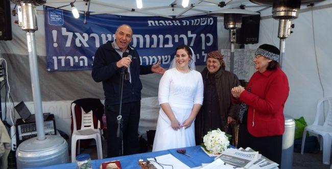 """חברי-כנסת באוהל המחאה: להחיל ריבונות ישראלית ביו""""ש"""