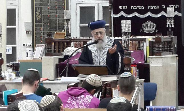 """הרב יצחק יוסף: אבא היה קורא מגילה בתל אביב גם בט""""ו באדר"""