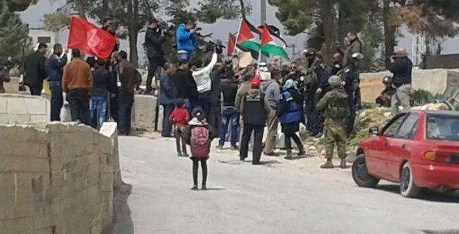 """פלסטינים סילקו פעילי שמאל שהפגינו בחברון: """"מחבלים בדו קיום"""""""