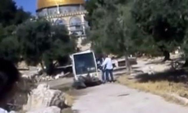 מזעזע: ערבים הופכים את מקום המקדש למזבלה