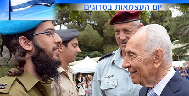"""צפו: החיילים המצטיינים של צה""""ל עם הנשיא פרס"""