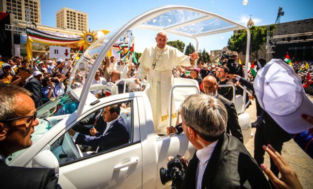 שרי הבית היהודי נעדרו מטקס קבלת הפנים לאפיפיור