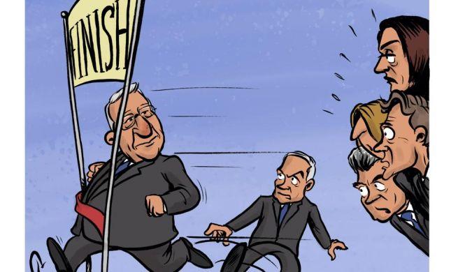 קריקטורה: הנצחון של ריבלין במרוץ לנשיאות