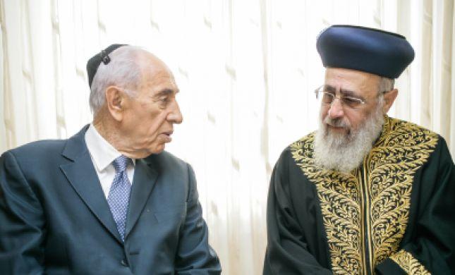 בזכות הרב יוסף, פרס לא ייפגש עם האפיפיור בכנסייה