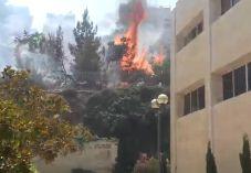 צפו: הלהבות שהשתוללו ליד 'מכון לב'