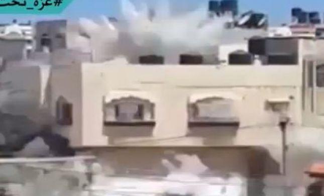 מחסלים את החמאס: תיעוד הפצצת בית בעזה