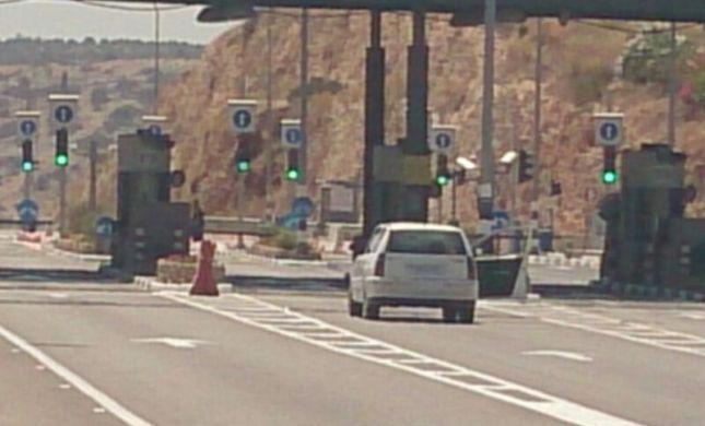 מכונית תופת נתפסה בכביש חוצה שומרון