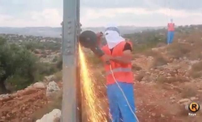 פלסטינים פגעו בחשמל: גוש טלמונים בעלטה