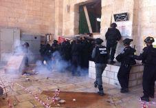 ערבים מתפרעים בהר הבית: 3 שוטרים נפצעו