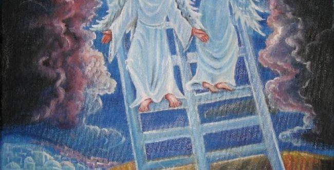 """ציורי תנ""""ך: פרשת ויצא המסר של סולם יעקב"""
