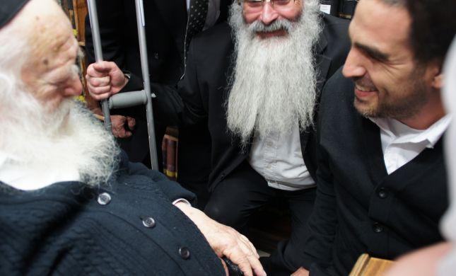 השוטר שנפצע בהר נוף נפגש עם הרב קנייבסקי