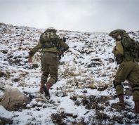 חדשות, חדשות צבא ובטחון תמונות: הצנחנים מדלגים בשלג ראשון בחרמון