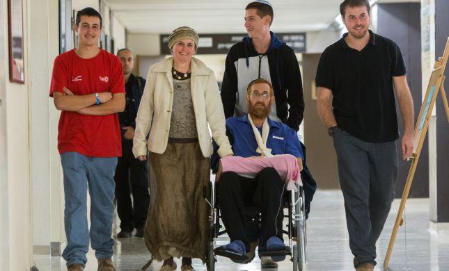 הולך הביתה: יהודה גליק השתחרר מבית החולים