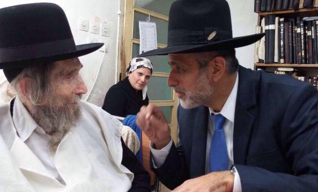 """בדרך לפילוג בש""""ס: אלי ישי נפגש עם הרב שטיינמן"""