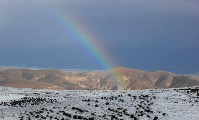 התמונות הזוכות בתחרות צילומי שלג בשומרון