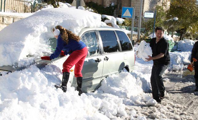 מתנדבי השירות הלאומי באזורי השלג משוחררים