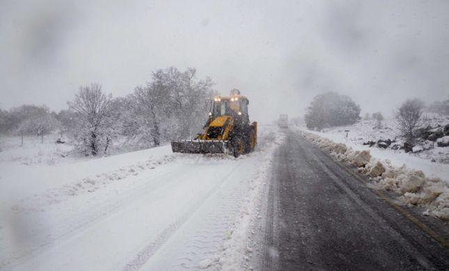 סלפי שלג: גולשי סרוגים מתעדים את הסערה