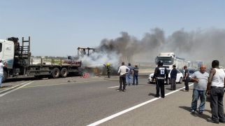 חדשות, חדשות בארץ נהג משאית נפצע קשה בתאונה בכביש 7