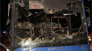 חדשות, חדשות צבא ובטחון אירוע שריפת האוטובוס בכביש 443 – פיגוע
