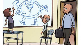 רץ ברשת, תרבות קריקטורה: השמאל מפחד משר החינוך בנט