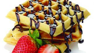 אוכלים, מתכונים חלביים מתכון לוופל בלגי עם פסטו ברוטב פטריות