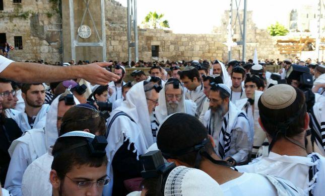 ישיבות ההסדר התאחדו לתפילה מרכזית בכותל