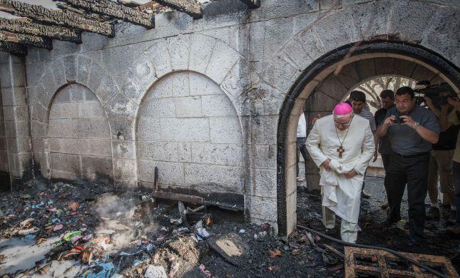 נעצרו חשודים בהצתת כנסיית הלחם והדגים