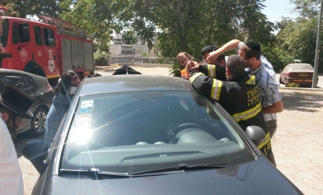 ירושלים: פעוט ננעל ברכב וחולץ לאחר רבע שעה