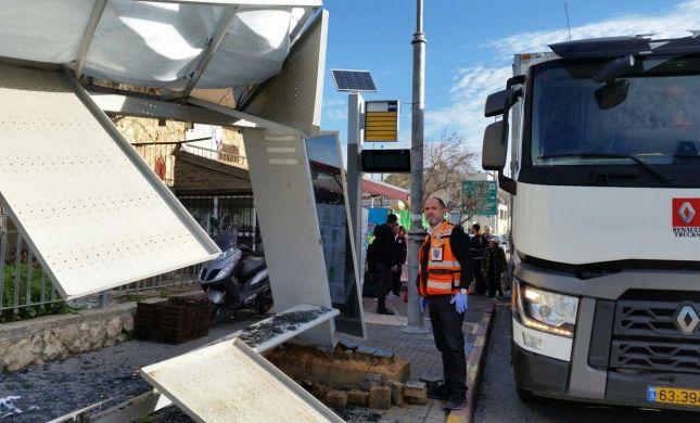 נס בירושלים: התחנה התפרקה, 4 נפצעו קל