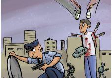 קריקטורה: המחבל בתל אביב עדיין לא נתפס