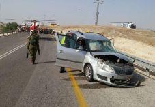 משפחה חרדית נלכדה ברכב: בן 30 נהרג