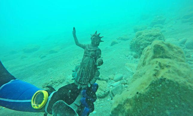 מטמון בן 1,600 שנה התגלה בחוף קיסריה