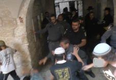 תיעוד: מתפללים יהודים חוטפים מכות משוטרים