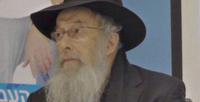 הרב טאו והרב אבינר בכרוז מחאה נגד 'מצעד התועבה'