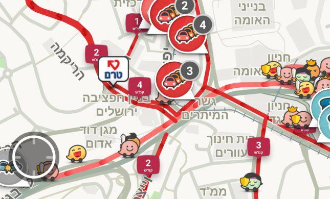 סיוט לנהגים בירושלים: פקקי ענק בכניסה לעיר