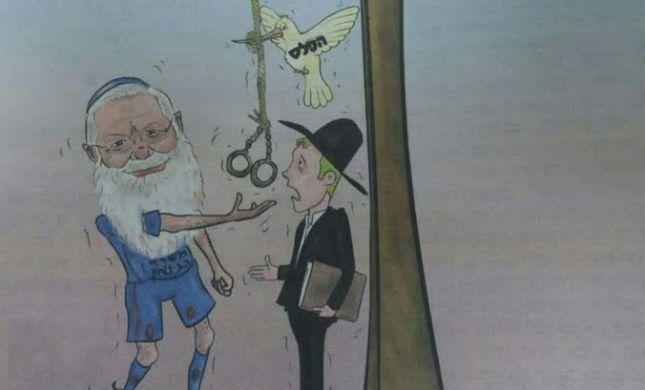 ההסתה החרדית: קריקטורה מזעזעת נגד הרב אלי בן דהן