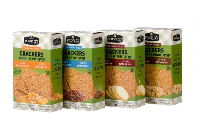 קרקרים מקמח חומוס, תירס, ותפוחי אדמה – במיוחד לשומרי גלוטן