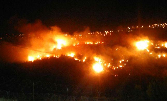 בגלל הלהבות: תושבים בטלמון פונו מבתיהם