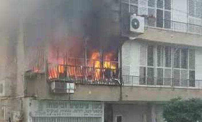 דירה עלתה באש בבת ים. ששה נפגעים באורח קל